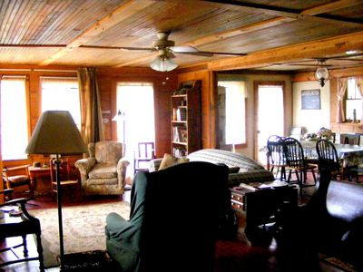 Photo for Large remolded hunting lodge with beautiful views of the Spring River Falls