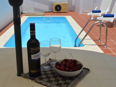Photo for Villa with Private Heated Pool. Short walk to child friendly Beach/Town Center