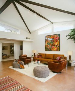 Living Area | Great light in this vaulted room, w/ amazing mountain views