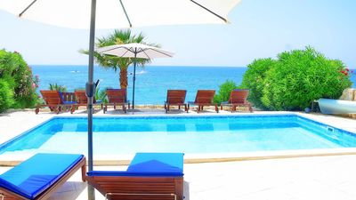 Photo for Villa With Private Heated Pool On The Sea Front In Coral Bay - Car not necessary