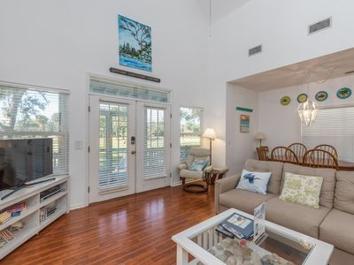 Photo for Bright, pet-friendly home with golf cart, wifi; amenity access available