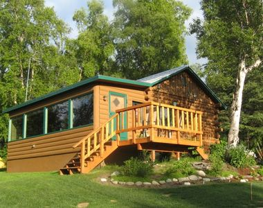 Photo for Lakefront Log Cabin - Spectacular Views! Centrally located on 6 private acres