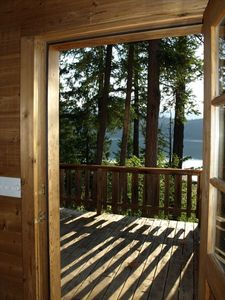 Photo for Loft Cabin on 100acr Property on Arrow Lake Beach and Privacy