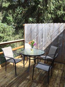Kick back or dine out on your private deck.