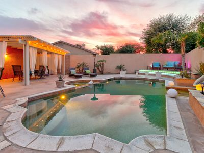 Photo for Home w/private pool & attached pool spa, high-end touches, entertaining backyard