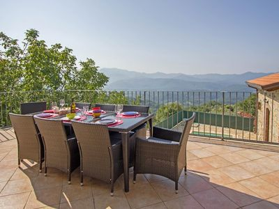 Photo for Peaceful 3 bedroom retreat, with pool and stunning views in Agnino nr Fivizzano