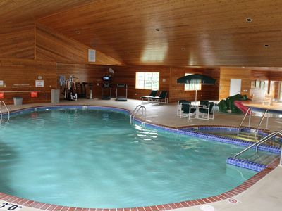 Large indoor swimming pool with Hot Tub & Kiddie Pool