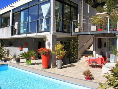 Photo for CARNOUX IN PCE (close to Cassis) INDEPENDENT CHARMING STUDIO - SHARED SWIMMING POOL