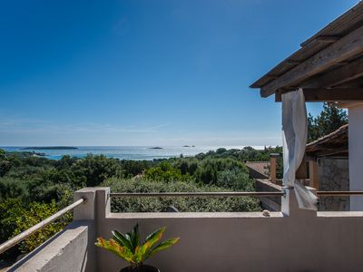 Photo for Charming villa with stunning views of the beautiful beach of Palombaggia