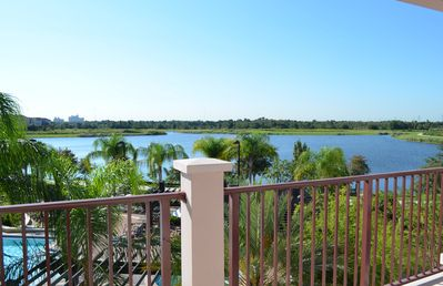View from the balcony of Lake Cay