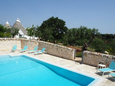 Photo for BOUTIQUE TRULLO FOR 4 WITH PRIVATE POOL IN GLORIOUS SETTING