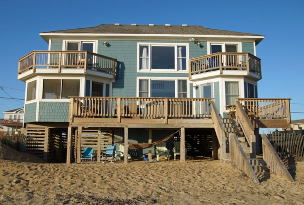 Oceanfront With 4 Bedrooms 2 Masters Hot Tub Covered Porch Dog Friendly Share Kitty Hawk Nc