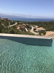 Photo for Modern house with private pool and stunning view 800m from beach