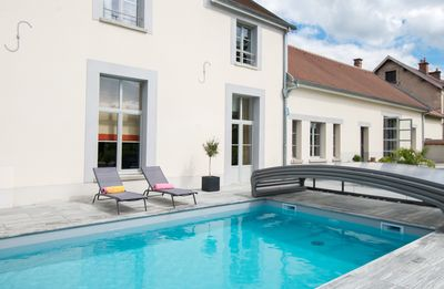 Photo for Large charming cottage in Champagne with heated pool