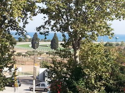 Photo for Cagnes / Sea F2 Sea View - Racecourse 2 steps from the beach and train station