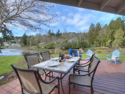Photo for Open Concept Gig Harbor Waterfront Home W/row Boat•A Del Mar Vacation Property