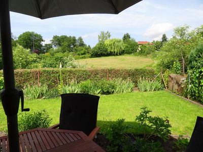 "Photo for Beautiful cottage ""Finnhütte"" with 2 terraces and rowboat + Wi-Fi"