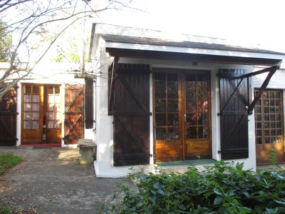 Photo for Sunny, lovely Bungalow In A Quiet And Secluded Garden In The Landes Region