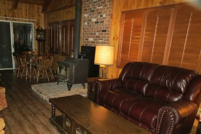 Relax with great conversation, games, or your favorite Idyll-time and warm fire.