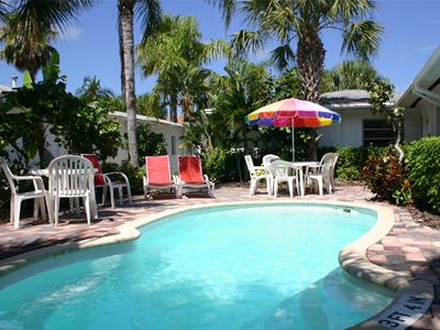 Photo for Lazy Lemon Cottage, 2 Heated Pools, Clearwater Beach