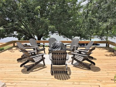 Photo for 4BR Remodeled Kingsland Waterfront Home - Huge decks, dock, dredged channel!