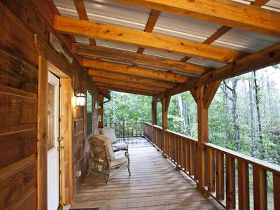 Photo for Cozy Studio Log Cabins With Hot Tubs And WiFi, Deer Cabin