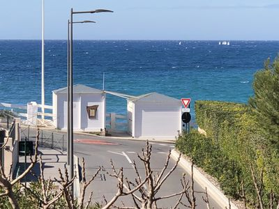 Photo for Sanary, exceptional sea view! In grand villa T2 nine at 20 meters from the beach