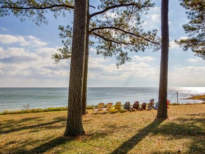 Photo for Beachfront Estate on the Chesapeake Bay, Private Beach & 30-Mile View