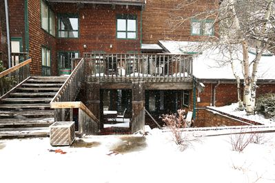 Premier location in downtown Estes Park, unit on two floors