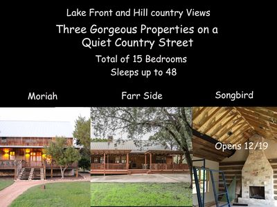 Photo for Lake Front and Hill Country Views