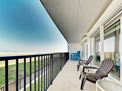 Photo for Updated 2nd-story Beachfront Condo w/ Pool & Balcony - Expansive Gulf Views!