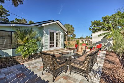 Soak up the sun on this St. Augustine vacation rental's private patio!