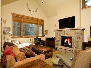 Get cozy in front of the toasty fireplace after a day on the hill.