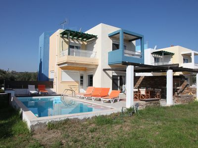 Photo for Pool villa-C, near the beach and the golf course of Rhodes, private pool-garden