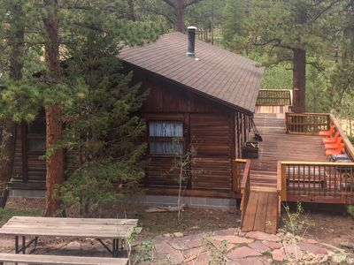 Photo for NEW LISTING! Charming, retro cabin w/ a wraparound deck and panoramic views!