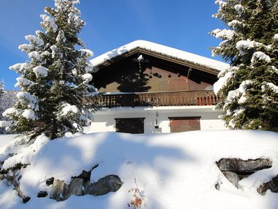 Photo for Nice chalet (for 6 pers), with 3 bedrooms. Two bedrooms with 2 single beds each and one bedroom with