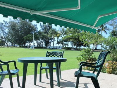 Photo for Ground Floor Condo, Steps From The Beautiful Beach, In Gated Family Community.