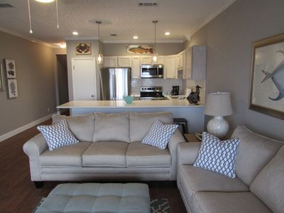 Living room and kitchen.