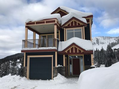 Front of ski home