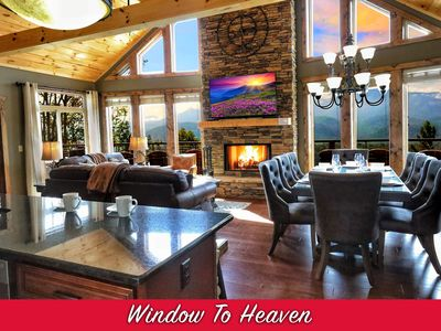 Photo for Brand NEW Luxury 4/4 Cabin! AMAZING VIEW! Huge Game Room, 7 Fireplaces, 4 Tubs!