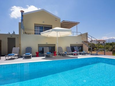 Photo for Villa Arda: Large Private Pool, Sea Views, A/C, WiFi