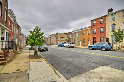 Easily walk to several shops, restaurants, and Canton Riverfront Park!