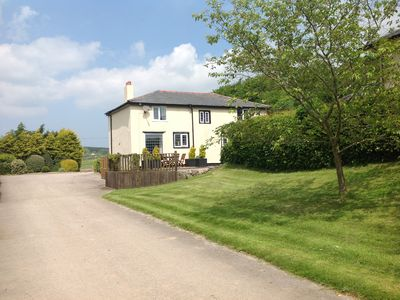Photo for 17th Century, spacious, characterful cottage with hot tub