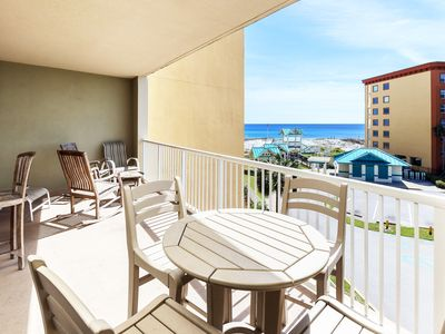 Photo for Beautiful 3 Bedroom Azure Condo, 3rd Floor, Affordably Priced, Beach Srvc -az322