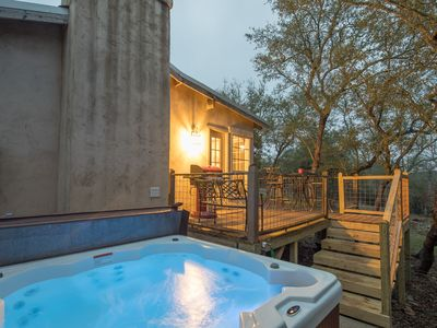 Photo for Little Rock n Wood- private hot tub under the Hill Country stars!