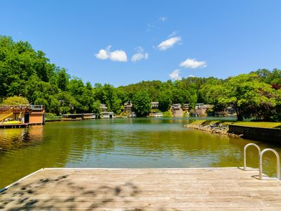 Photo for Tryon Bay Lake House - 4 bdrm, 3 bath lake front home with canoe.  Affordable.