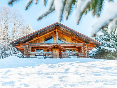 Photo for The Suchelot bust, log cabin for 10, pool access, near La Bresse