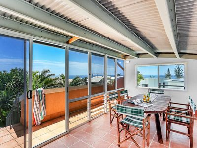 Photo for Enclosed Roof Deck with Ocean Views, Resort Pool, Walk to Beach & Cafe