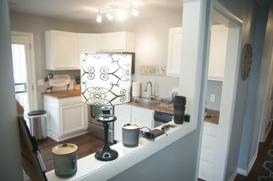 From living room into the kitchen