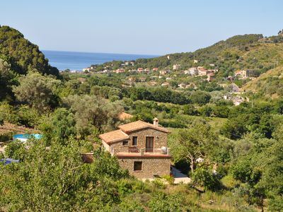 Photo for Cilento, Castellabate - House with pool + sea views in a beautiful panoramic position